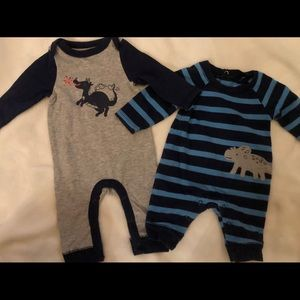 Lot of 2 Baby Boy One piece Outfits